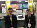 Cianan Darcy and Luke Madden pictured at BT Young Scientist